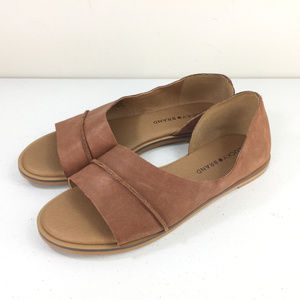 Lucky brand Fentin 7 brown Leather D'orsay Flats